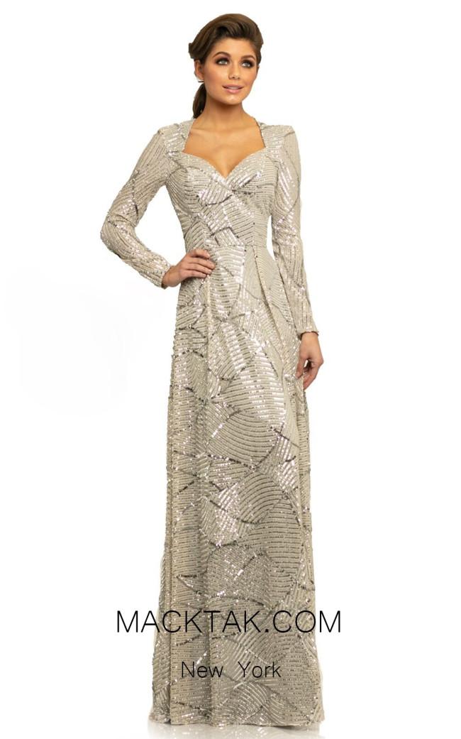 Johnathan Kayne 9250 Silver Front Dress
