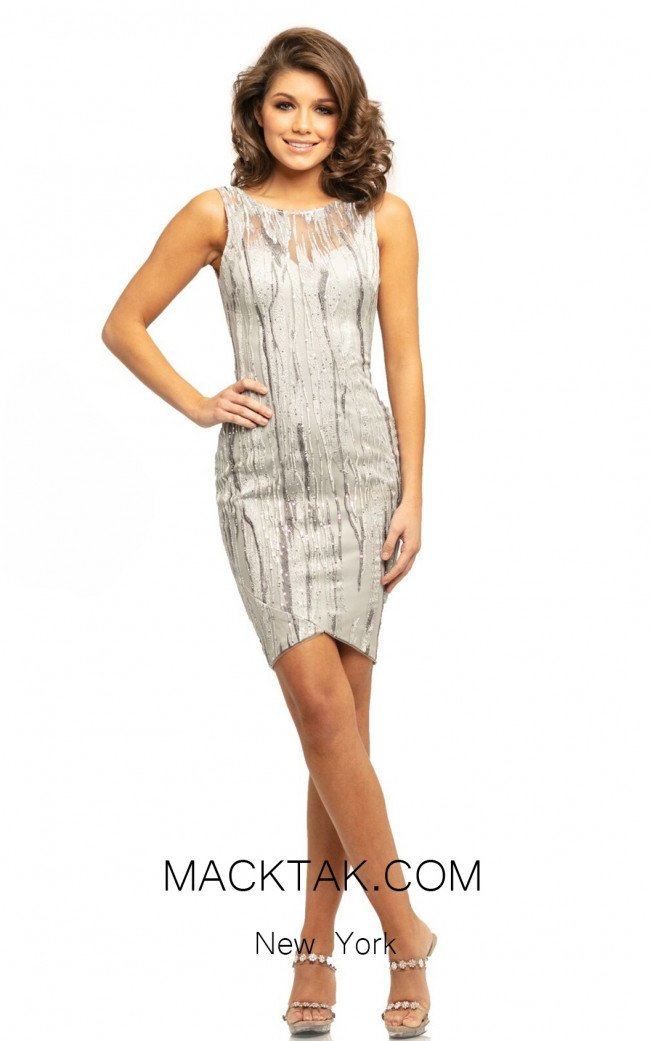 Johnathan Kayne 9253 Silver Front Dress