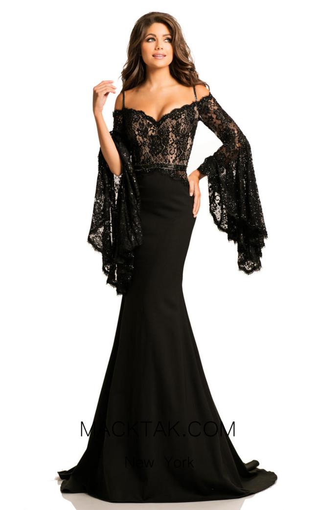 Johnathan Kayne 7244 Black Nude Front Dress