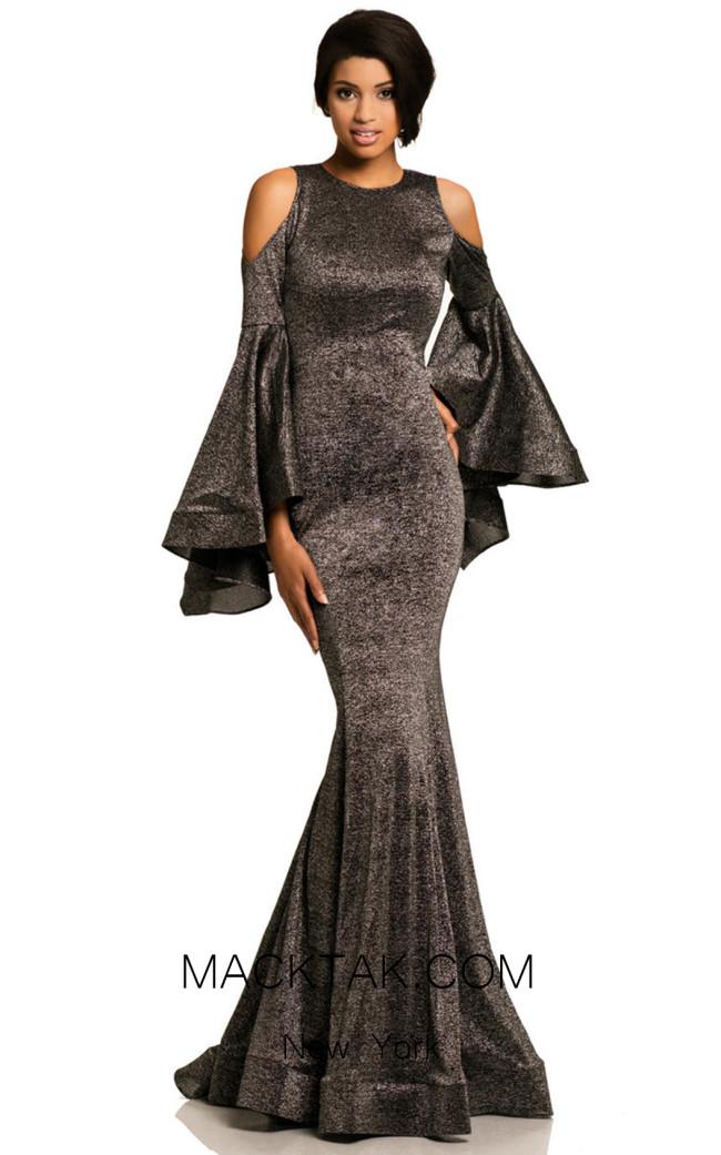 Johnathan Kayne 8111 Black Front Dress