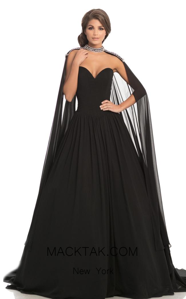 Johnathan Kayne 8200 Black Front Dress