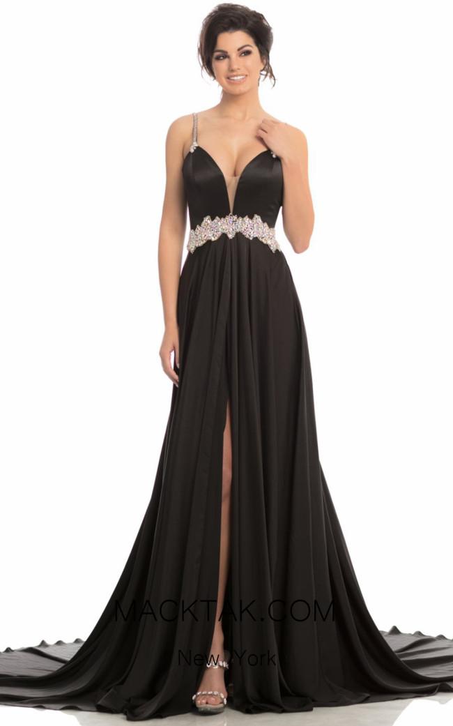 Johnathan Kayne 8205 Black Front Dress
