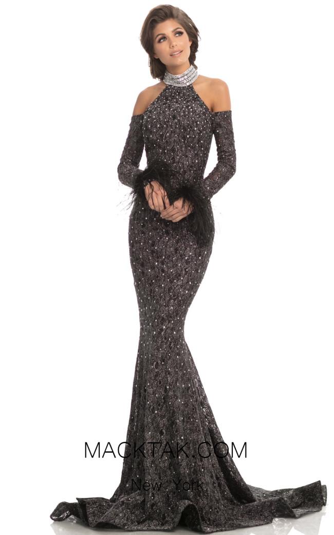 Johnathan Kayne 8219 Silver Front Dress