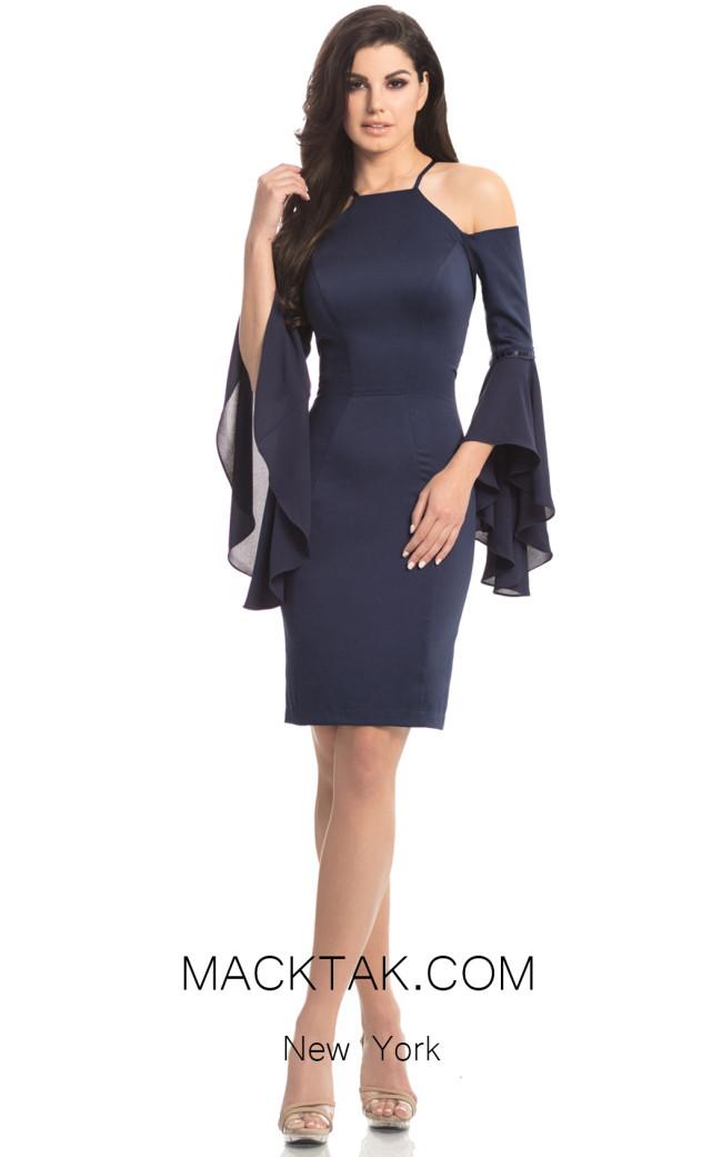 Johnathan Kayne 8246 Navy Front Dress