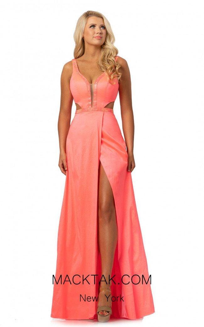 Johnathan Kayne 2012 Hot Coral Front Dress