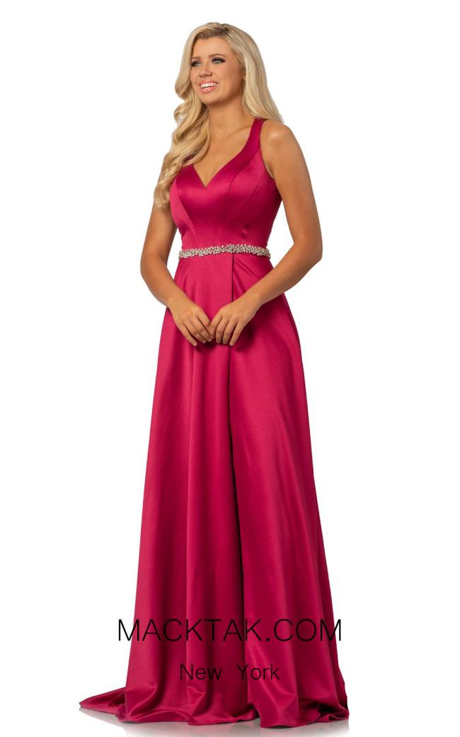 Johnathan Kayne 2013 Raspberry Front Dress