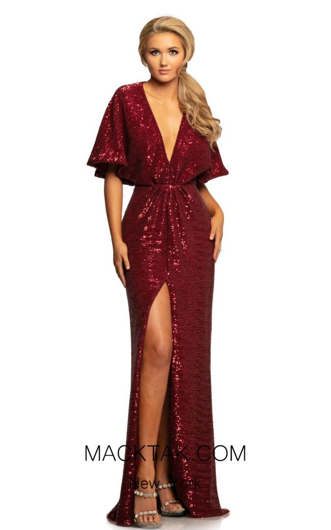 Johnathan Kayne 2015 Crimson Front Dress