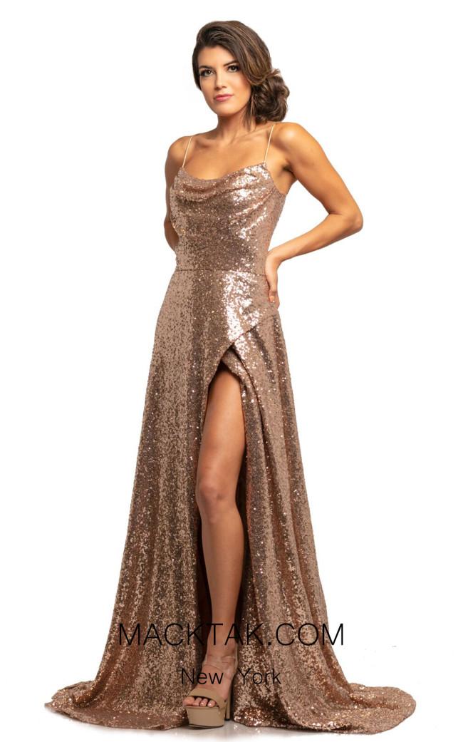Johnathan Kayne 2022 Rose Gold Front Dress