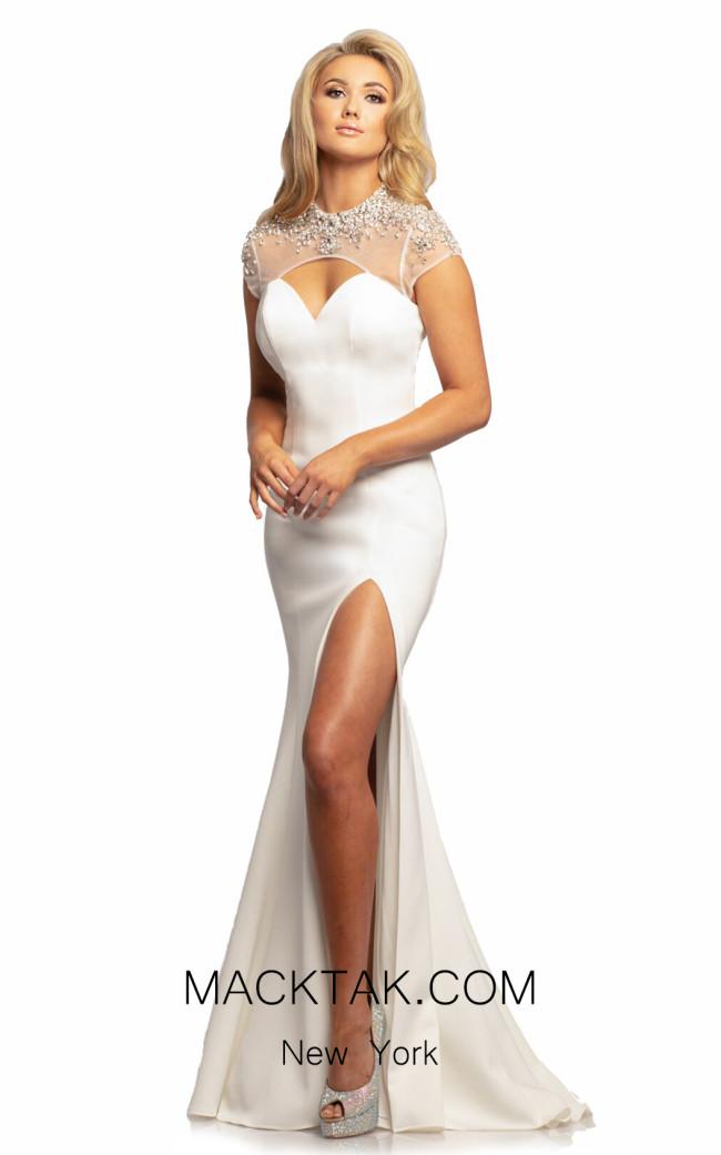 Johnathan Kayne 2024 White Front Dress