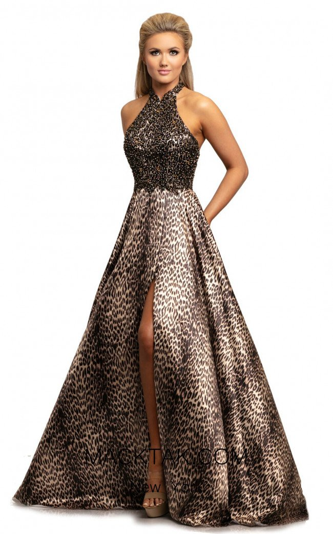 Johnathan Kayne 2030 Leopard Front Dress