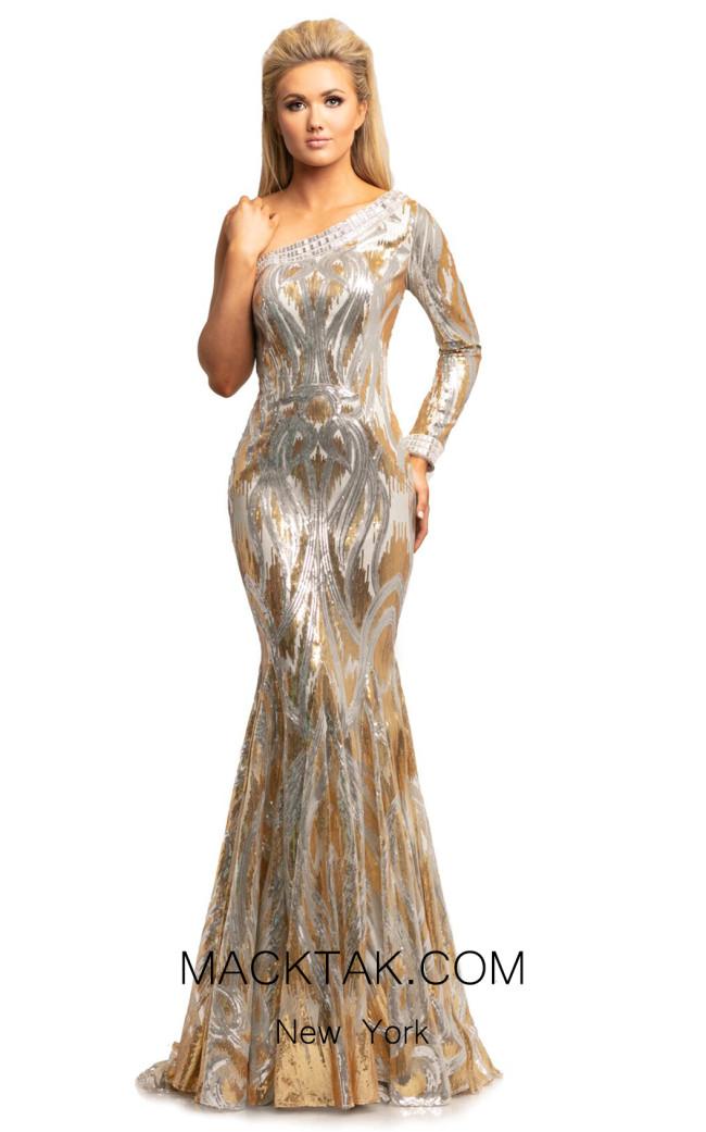 Johnathan Kayne 2031 Gold Silver Front Dress