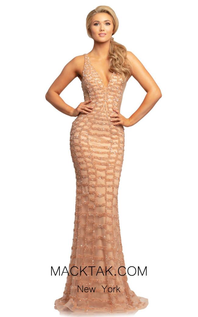 Johnathan Kayne 2043 Champagne Front Dress