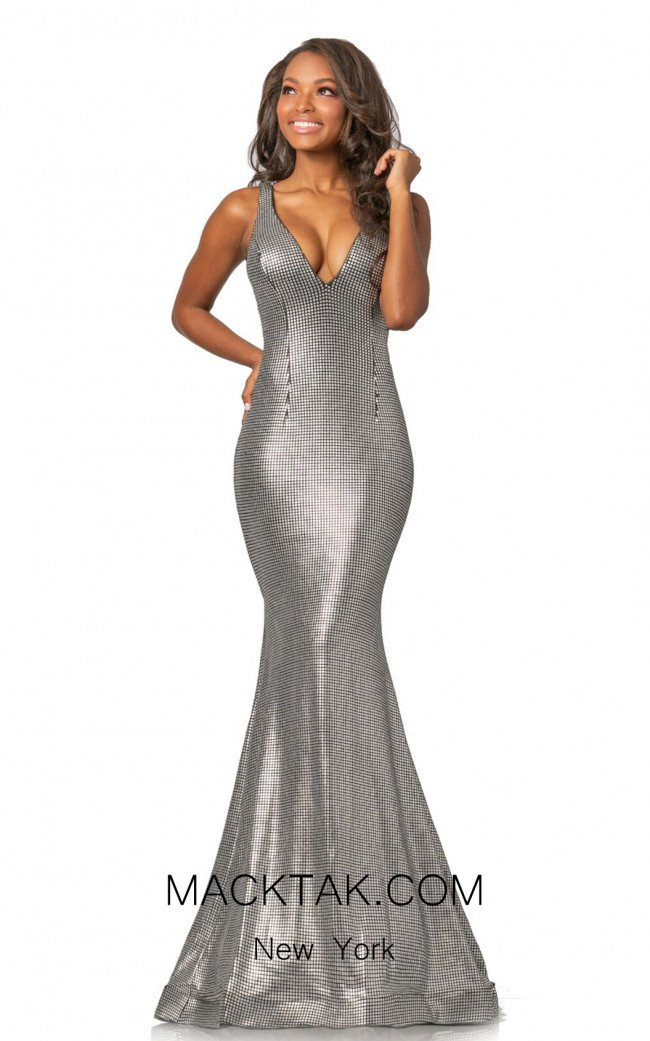 Johnathan Kayne 2044 Matte Silver Front Dress