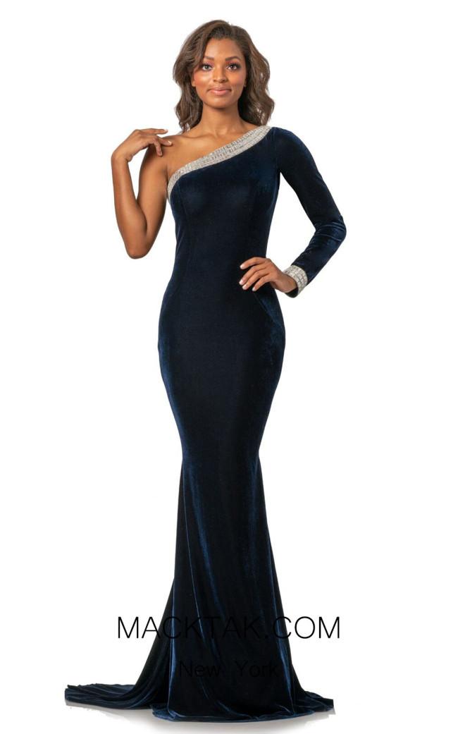 Johnathan Kayne 2046 Navy Front Dress