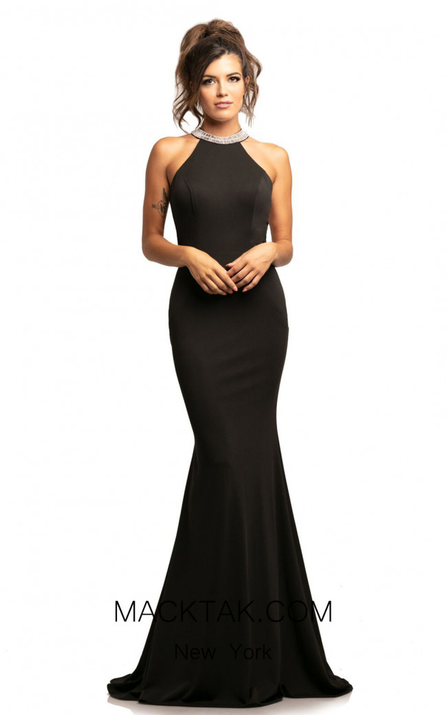 Johnathan Kayne 2049 Black Front Dress