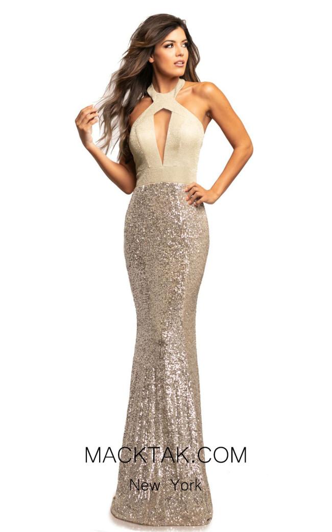 Johnathan Kayne 2050 Gold Silver Front Dress