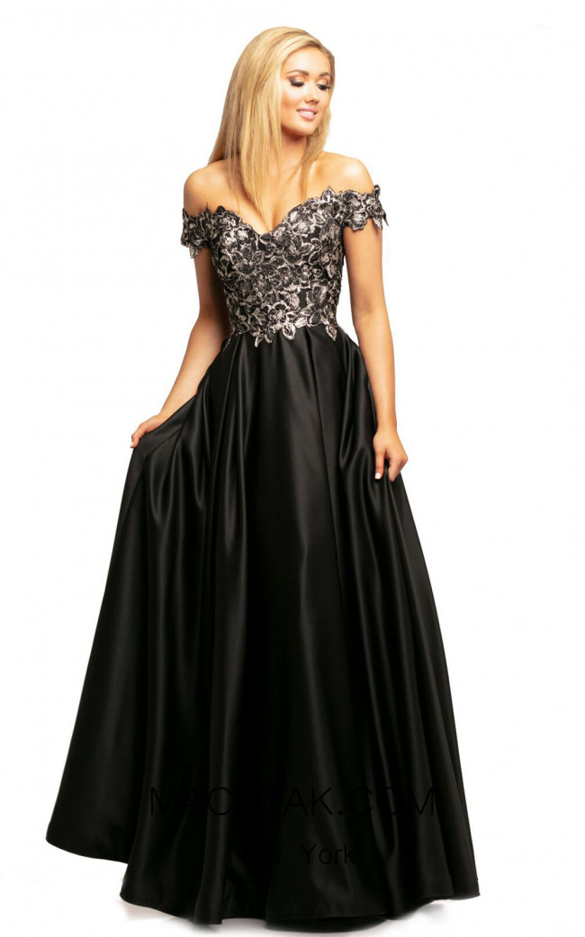 Johnathan Kayne 2051 Black Front Dress