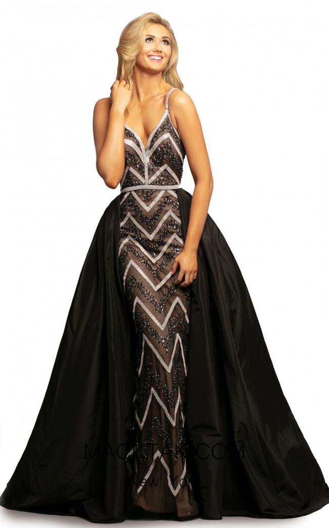 Johnathan Kayne 2052 Black Nude Front Dress