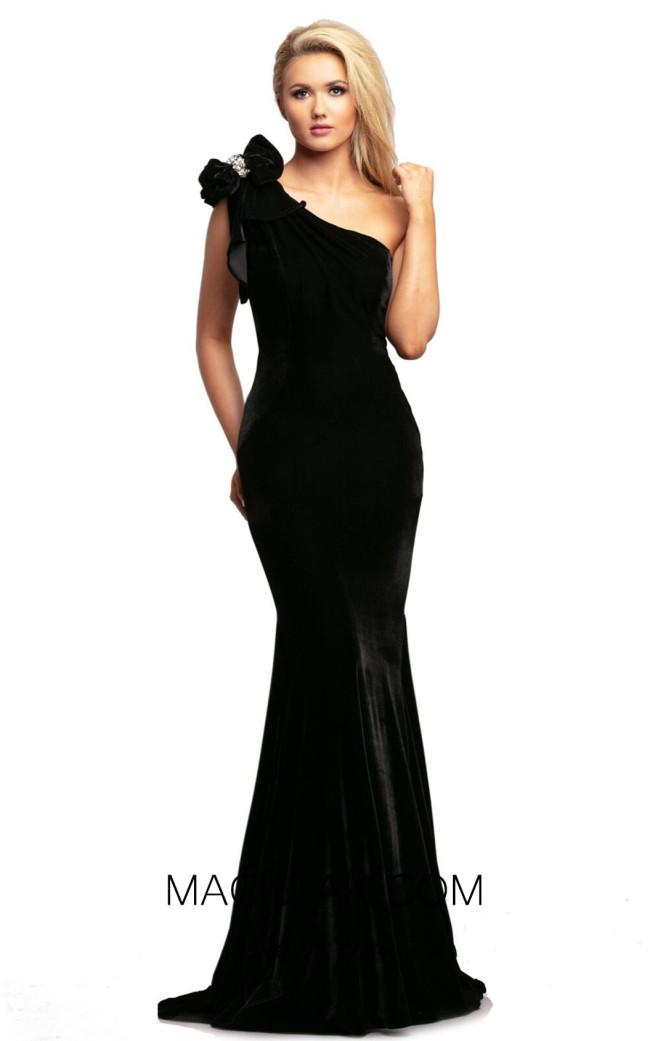 Johnathan Kayne 2055 Black Front Dress