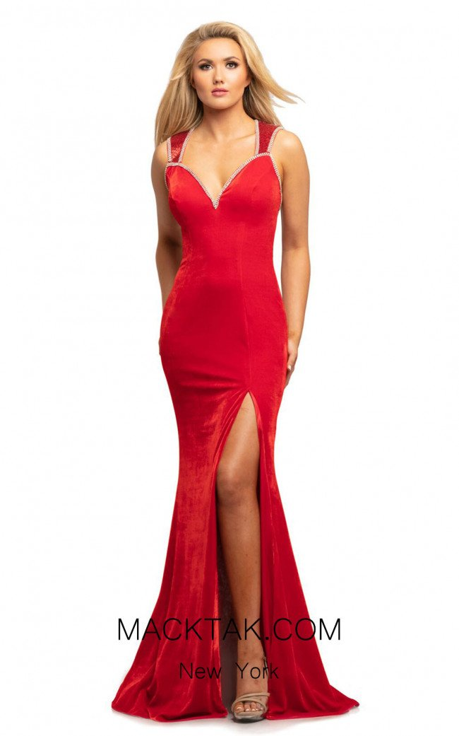 Johnathan Kayne 2057 Red Front Dress