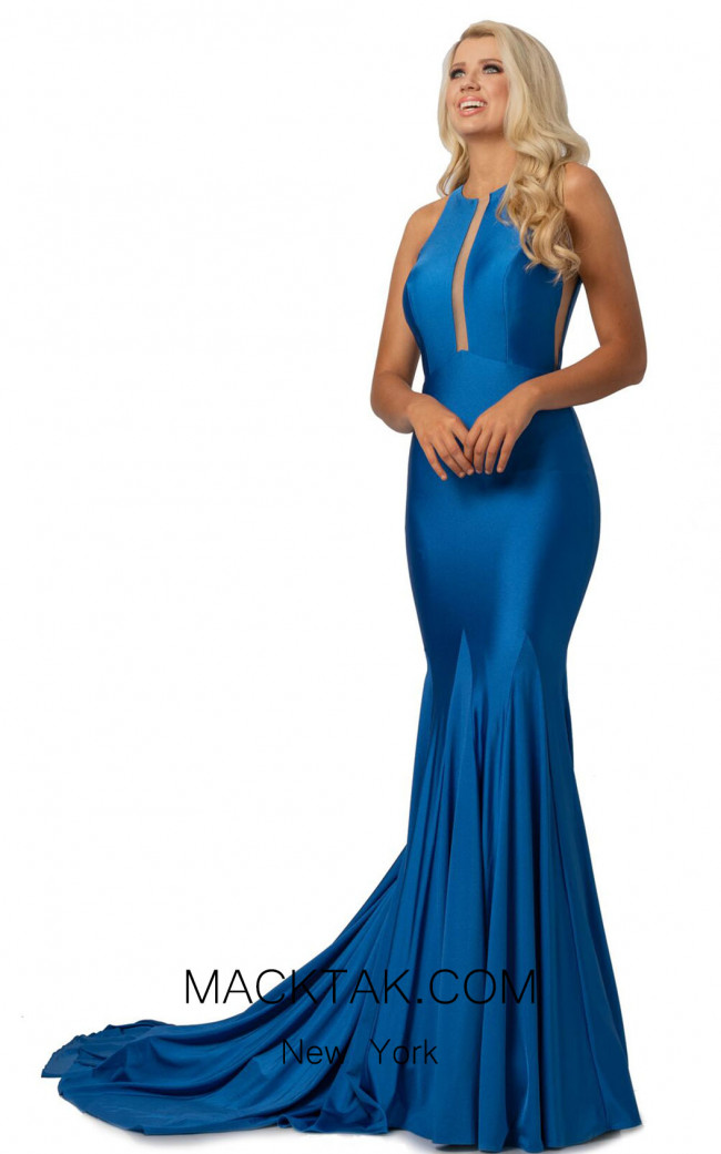 Johnathan Kayne 2061 Blue Front Dress