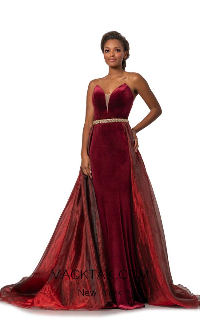 Johnathan Kayne 2062 Wine Front Dress