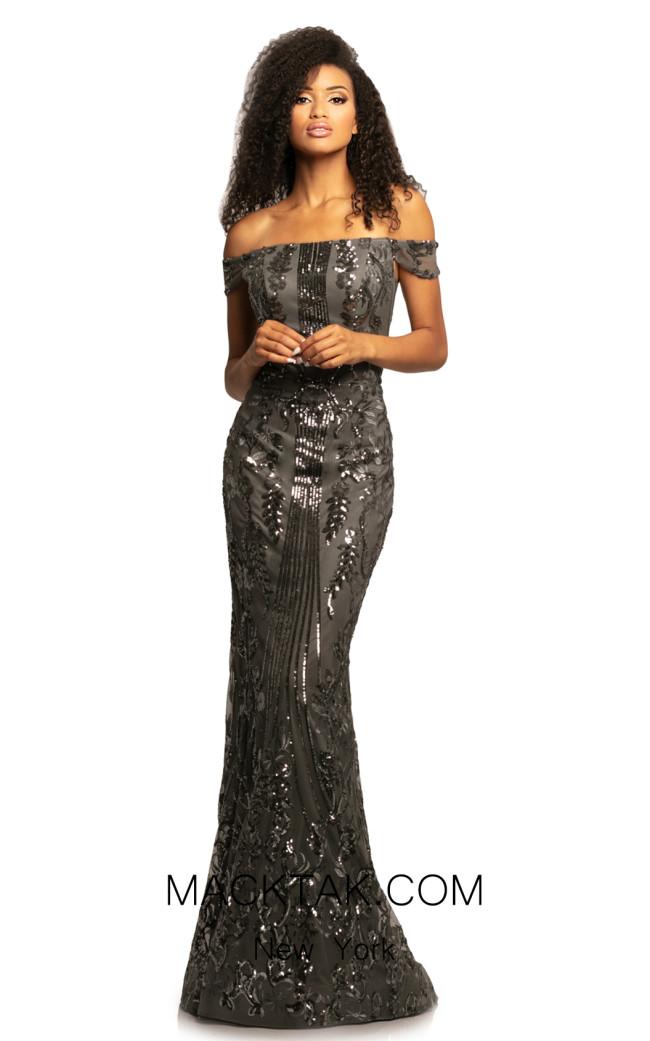 Johnathan Kayne 2064 Charcoal Front Dress