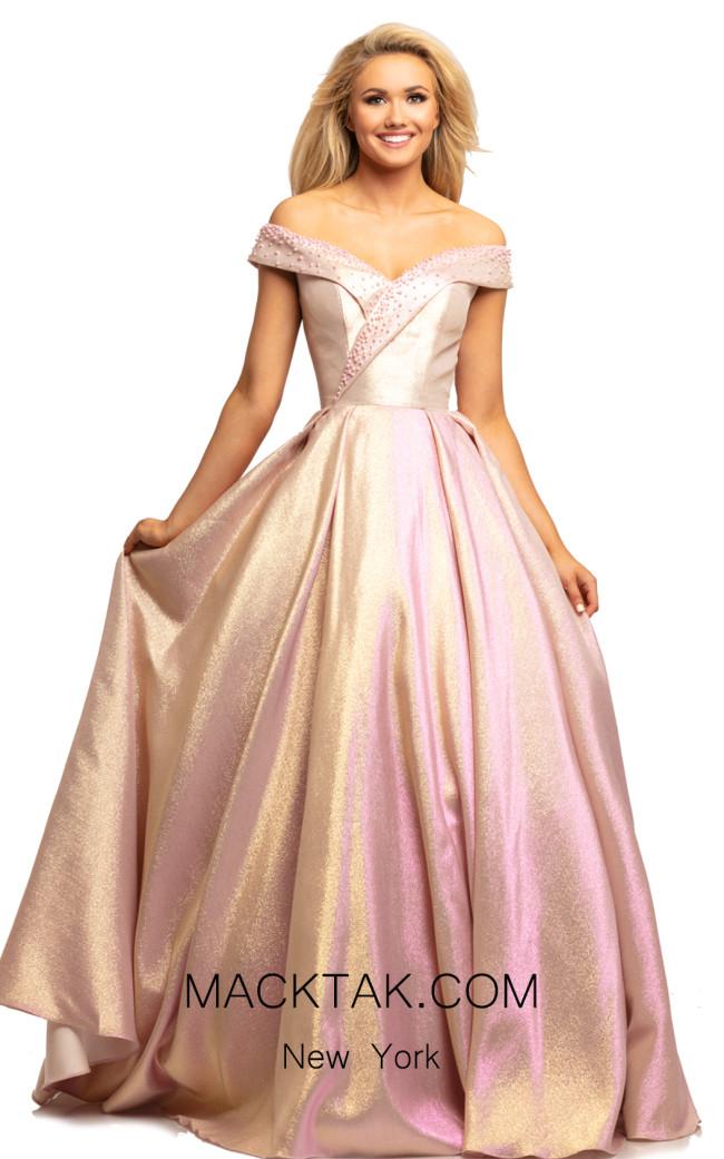 Johnathan Kayne 2072 Pink Gold Front Dress