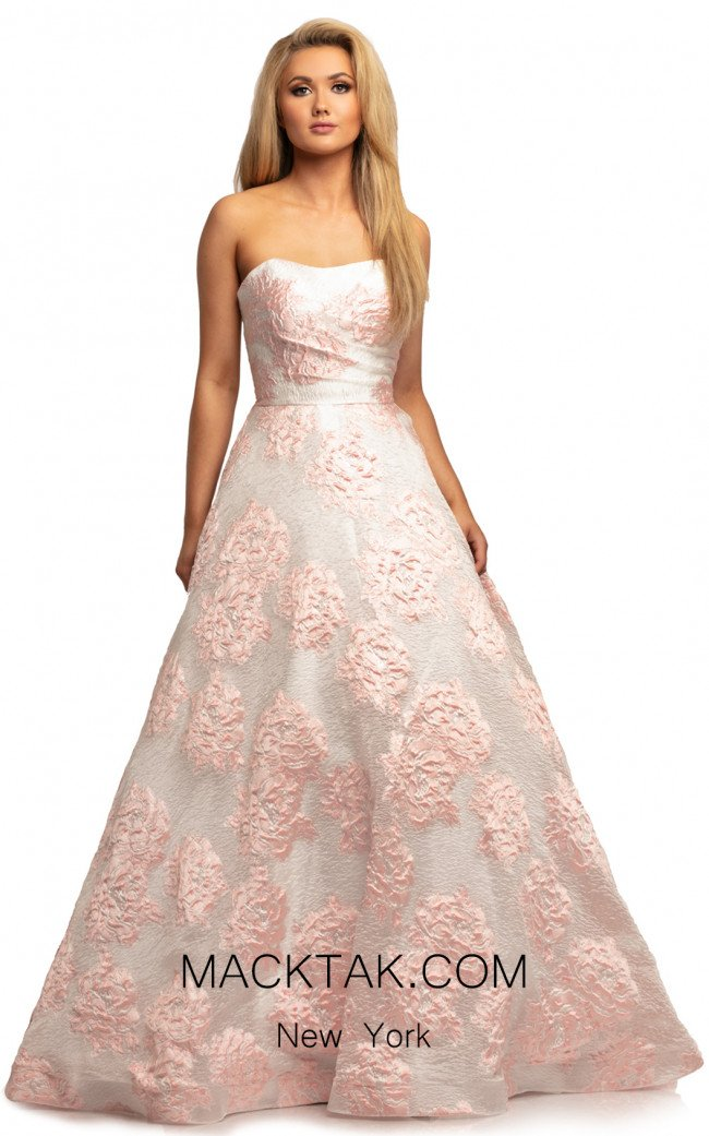 Johnathan Kayne 2078 White Pink Front Dress