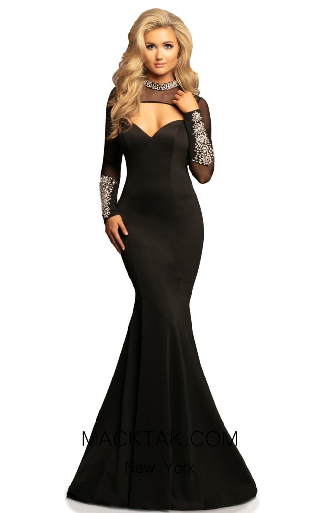 Johnathan Kayne 2082 Black Front Dress