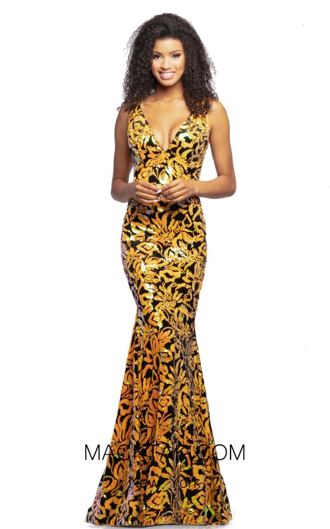 Johnathan Kayne 2106 Merigold Multi Front Dress