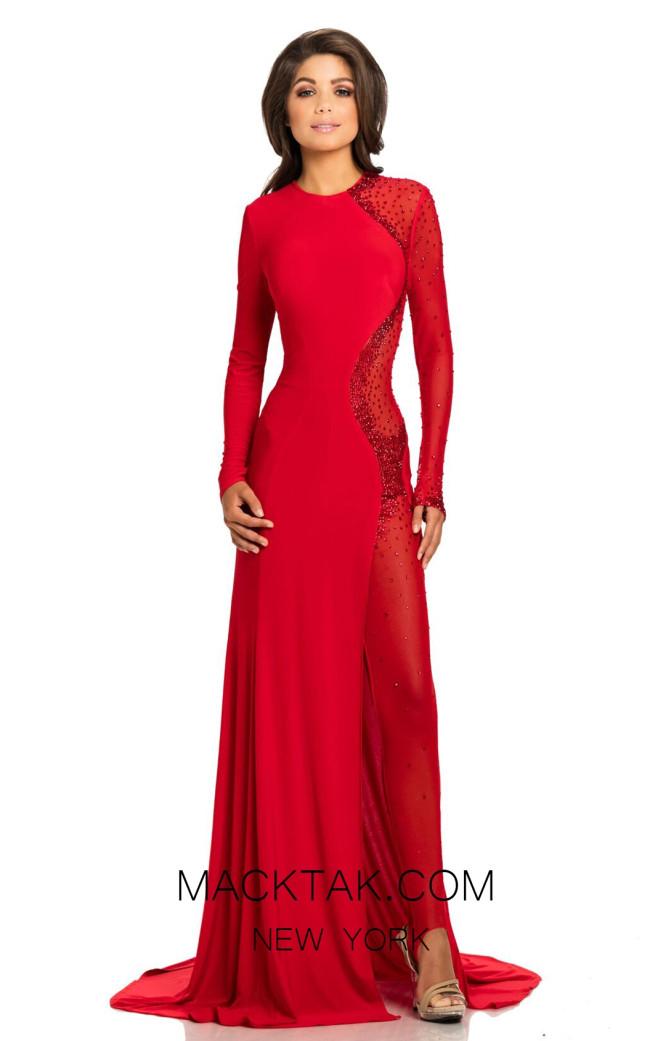 Johnathan Kayne 6093 Red Front Dress