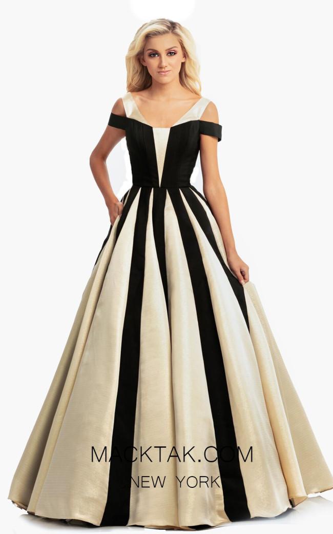 Johnathan Kayne 9000 Black Gold Front Dress