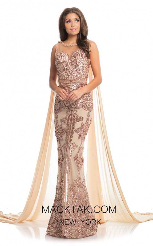 Johnathan Kayne 9002 Rose Gold Front Dress