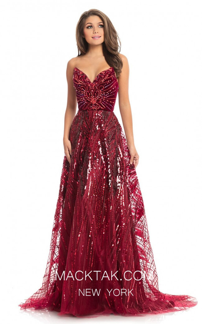 Johnathan Kayne 9014 Red Front Dress