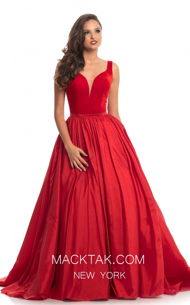 Johnathan Kayne 9016 Red Front Dress