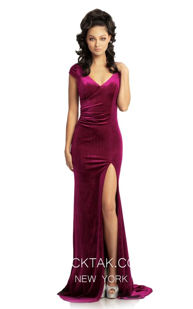 Johnathan Kayne 9018 Magenta Front Dress