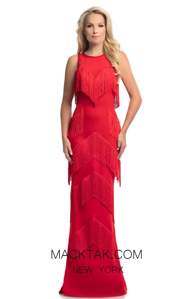 Johnathan Kayne 9020 Red Front Dress