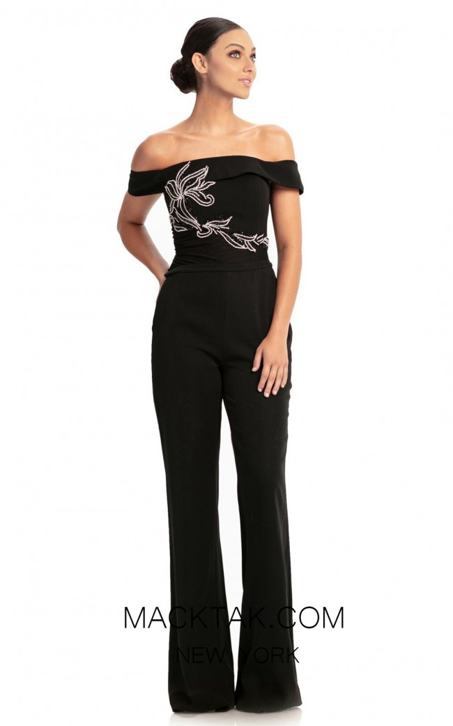 Johnathan Kayne 9023 Black Front Dress