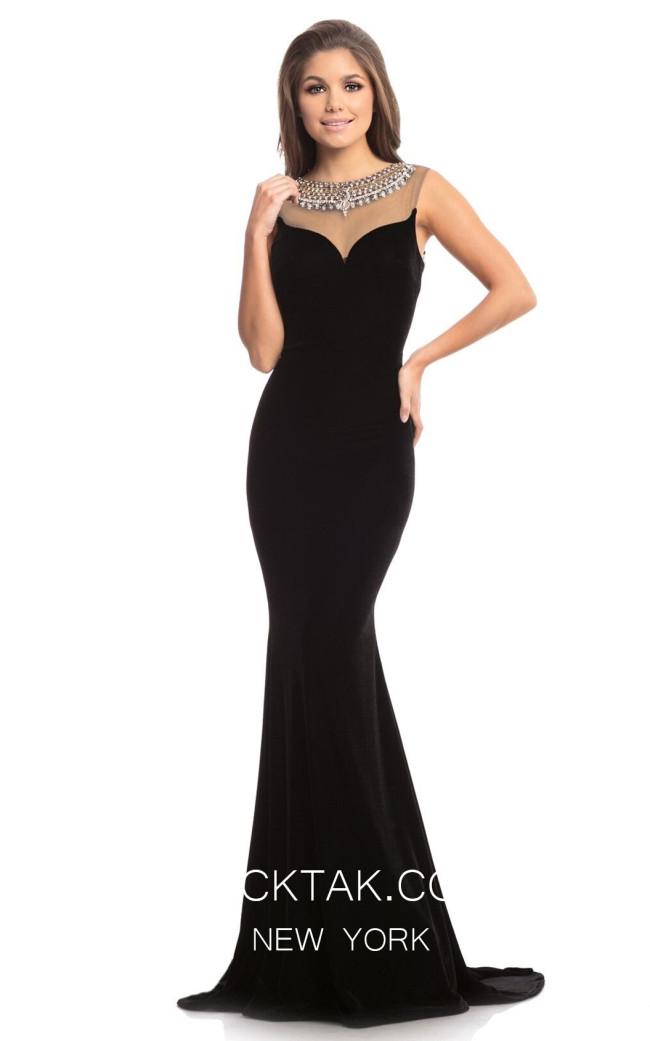 Johnathan Kayne 9024 Black Front Dress
