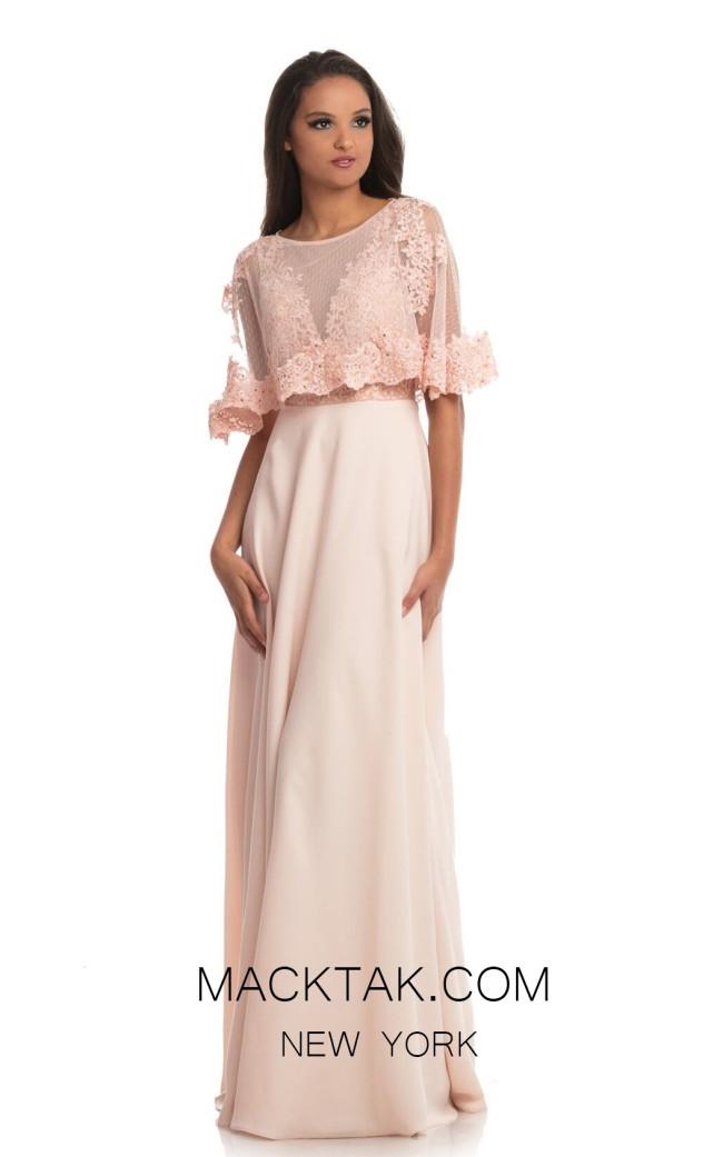 Johnathan Kayne 9032 Blush Front Dress