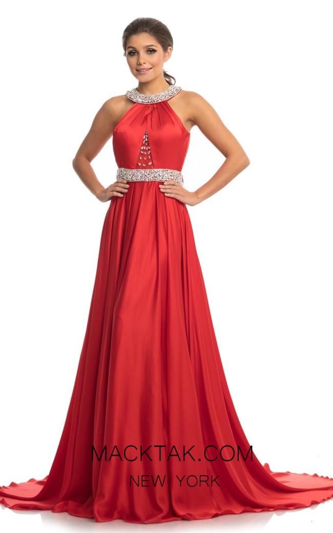 Johnathan Kayne 9034 Red Front Dress