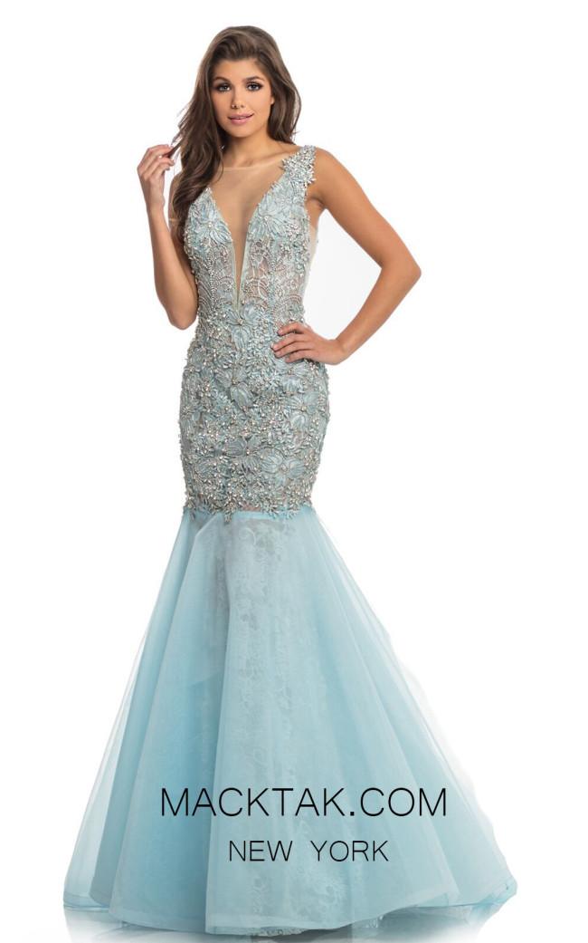 Johnathan Kayne 9035 Ice Blue Front Dress