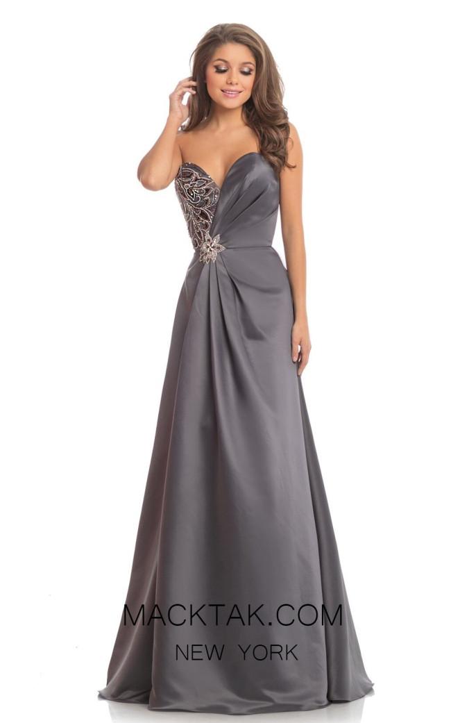 Johnathan Kayne 9038 Gunmetal Front Dress