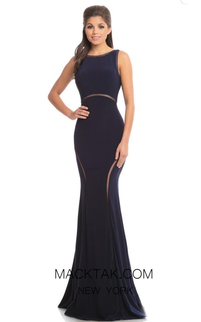 Johnathan Kayne 9042 Navy Front Dress