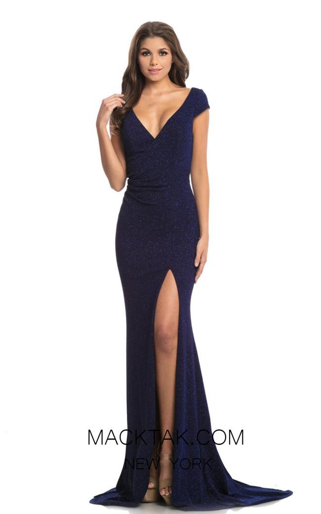 Johnathan Kayne 9043 Navy Front Dress