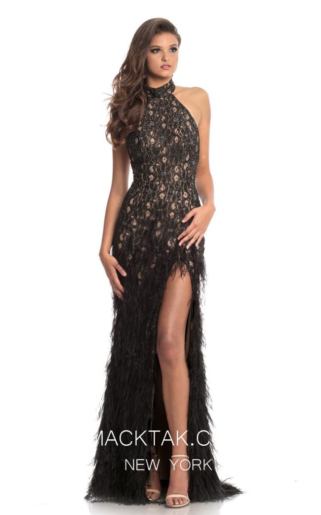 Johnathan Kayne 9044 Black Front Dress