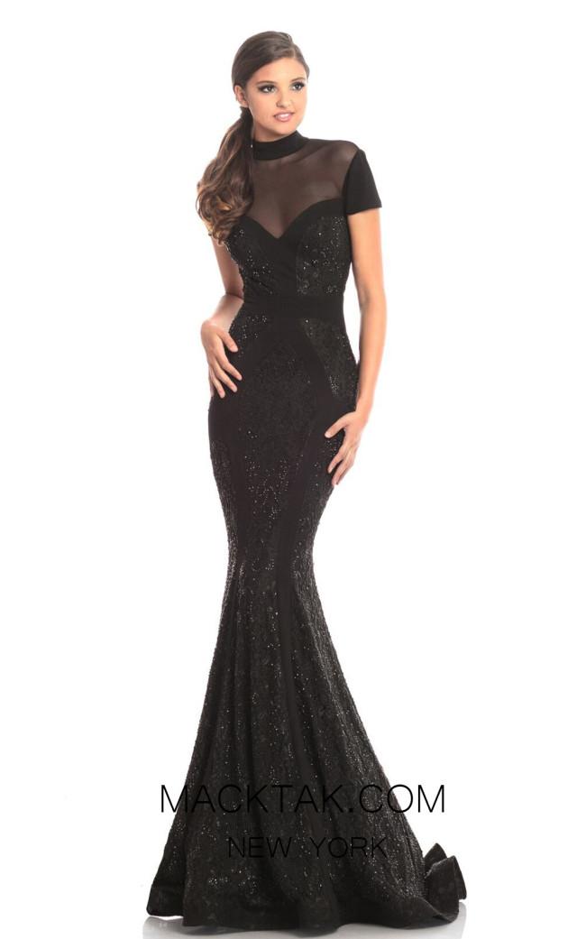 Johnathan Kayne 9045 Black Front Dress