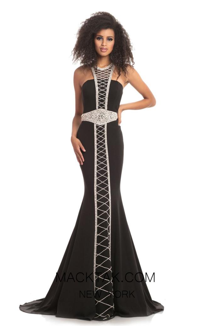 Johnathan Kayne 9051 Black Front Dress