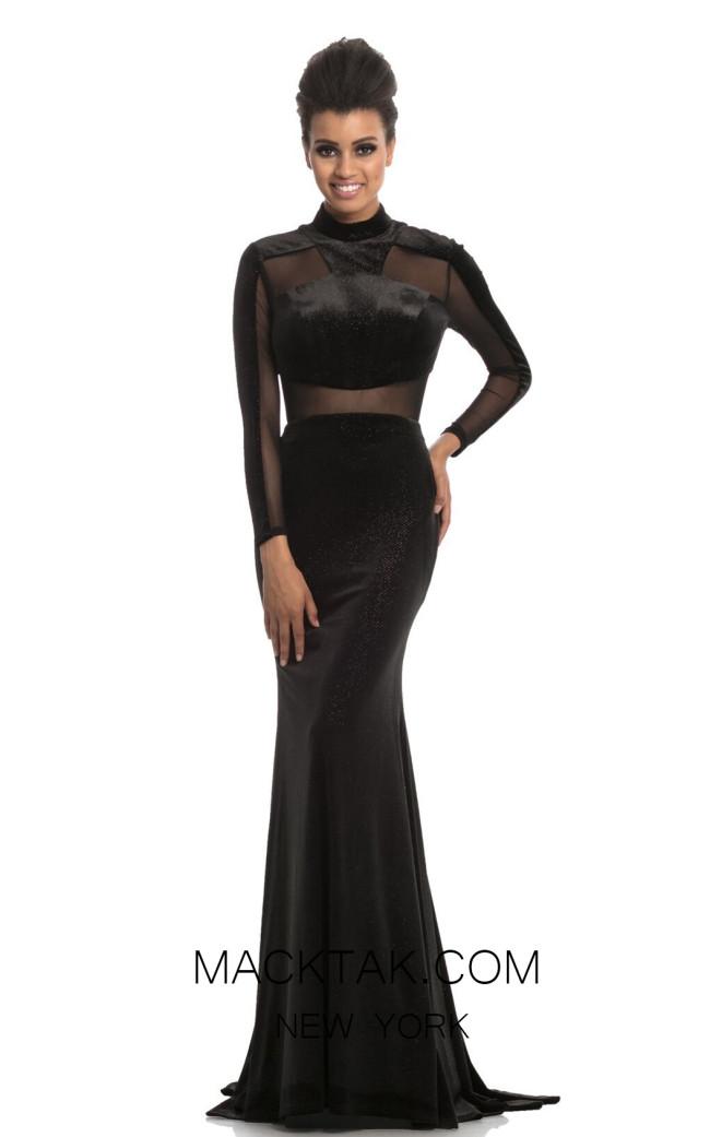 Johnathan Kayne 9059 Black Front Dress